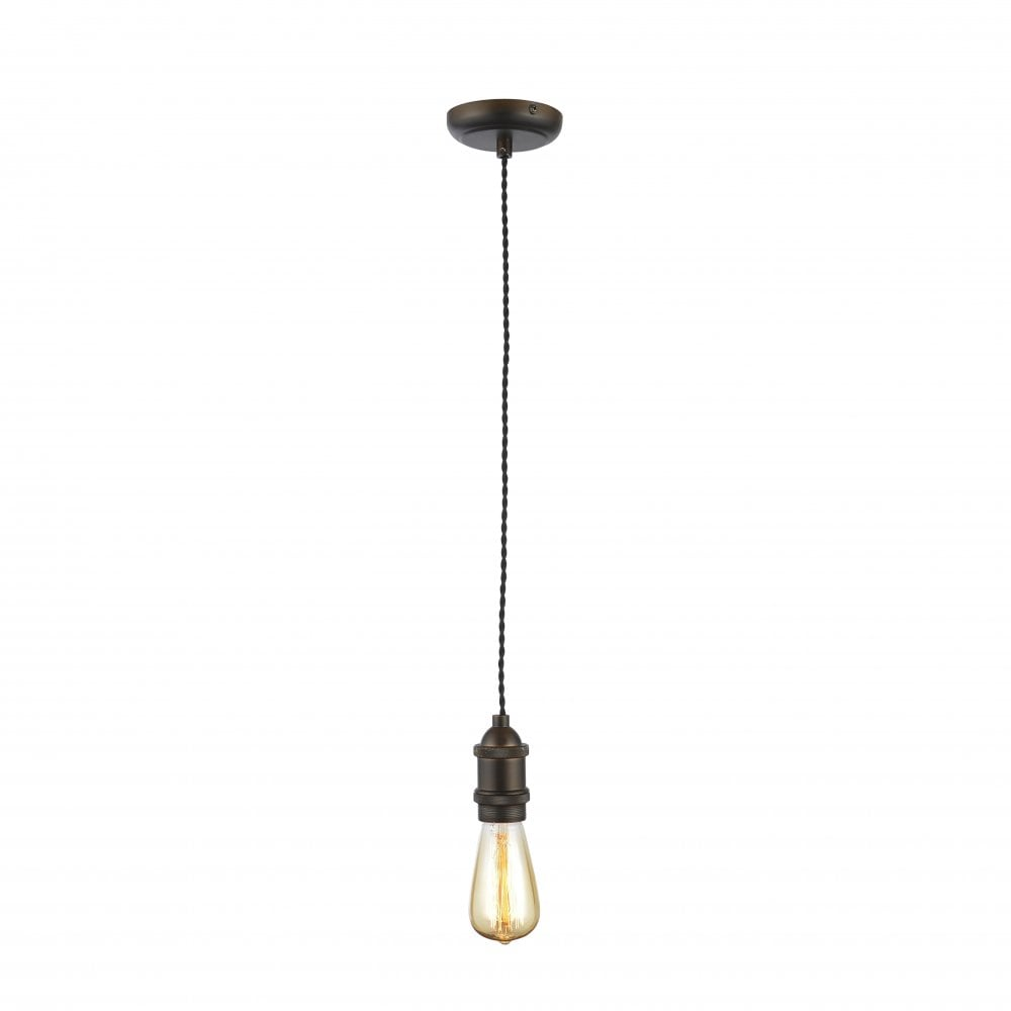 Forum Lighting Ensemble suspension Dale Single Light Bronze avec câble torsadé noir